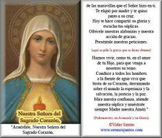 Rincón de la Oración: Estampas Oraciones de Nuestra Señora del Sagrado C...
