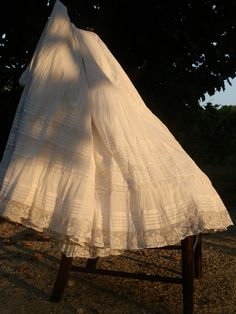 Exquisite French Antique Petticoat Jupon