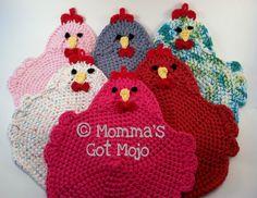 Crochet Pattern for the Swanky Chicken Trivet door MommasGotMojo