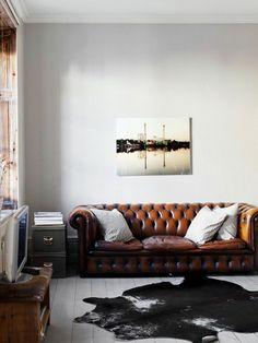 Sofá de couro clássico