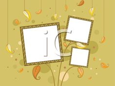 iCLIPART - Autumn-themed Frame with Falling Leaves in the Background