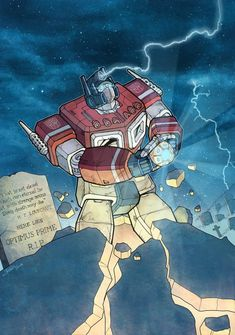 Optimus opening the Matrix