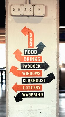 It's cheaper and more personal to paint a sign, so why not do it on a wall/column that needs some love anyway! -Troy-