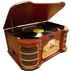 Pyle Home PTCDS2UI AM/FM Radio/CD/Cassette/USB Classic Turntable with iPod Dock with Mini Tool Box (fs) by Pyle.