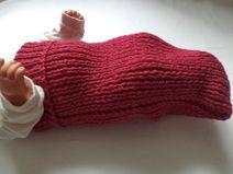 Cocoon Merinowolle Pucksack gestrickt Baby Wolle