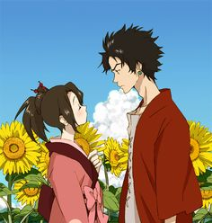 samurai champloo | Fuu & Mugen  I actually wanted them to end up together... oddly. P: