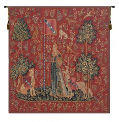 the lady and the unicorn - one of five medieval tapestries inthe Musee National du Moyen Age. Medieval Tapestry, Medieval Art, Canvas Wall Art, Canvas Prints, Art Prints, Renaissance, Unicorn Tapestries, Cool Posters, Illustrations
