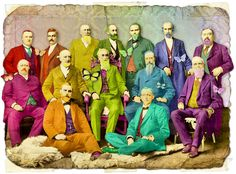 I love how Itkupilli digitally colored this old photograph .. very rainbow!