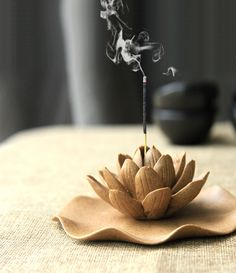 Winter Lotus : Ceramic Decoration ~ Incense Burner ~ Incense sticks or cones…