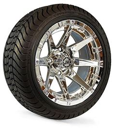 Golf Carts Ideas   14 Wheel Assembly Street Radial Tire with Dura Chrome Rim Set of 4 -- Read more reviews of the product by visiting the link on the image. Note:It is Affiliate Link to Amazon. #BrowseOurUltimateGolfCarts