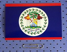 Belize Flag Bumper Sticker by CustomStickerMakers on Etsy