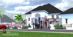 5 BEDROOM DUPLEX (RF D5004) - Luxury House Plans, Luxury Homes Dream Houses, Modern House Plans, Duplex House Design, Modern House Design, Bungalow Style House, Duplex Floor Plans, Concrete Staircase, House Design Pictures