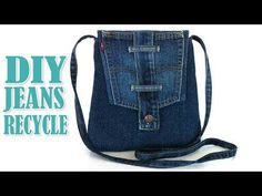 Great Images Recycled Denim Purse – Re-using Pockets, Waistbands, Belt Loops from Jeans Strategies I love Jeans ! And a lot more I want to sew my very own Jeans. Next Jeans Sew Along I'm likely t Diy Crafts Tv, Denim Crafts, Diy Jeans, Jeans Pants, Diy Bags From Jeans, Diy Denim Purse, Denim Backpack, Plaid Pants, Jean Shorts