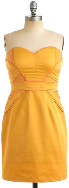 ModCloth  Tangerine Zest Dress