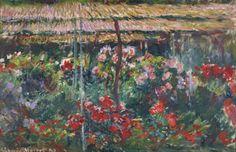 Peony Garden, 1887, Claude Monet