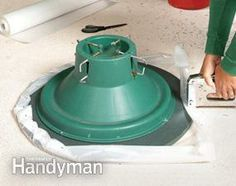 A tip-proof, drip-proof lazy Susan for carpet!
