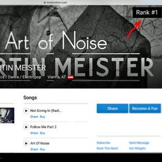 """""""#that #now www.reverbnation.com/martin101 ✌ #RANK #number #ONE !!!! #electronica #dance #electropop #music #artist #ranking #reverbnation #charts #vienna #austria #igersaustria #igersvienna @igersvienna @reverbnation #THANKYOU"""""""