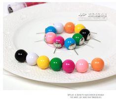 Min $ 7 ( ordre de mélange ) 2015 hot mode sauvages QQ bonbons colorés balle boucle d'oreille bricolage boucles d'oreilles bijoux gros boucles d'oreilles pour les femmes