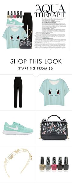 """""""Untitled #23"""" by bebebelabee on Polyvore featuring Anja, Lanvin, NIKE, Charlotte Russe and OPI"""