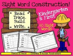 60 Sight Words to Read, Trace, Build, and Write!Included in this set are 60 Sight Words for Kindergarten.  This could also be used as a first grade intervention.The sight words are in the order that I teach them throughout the year in my Kindergarten class.