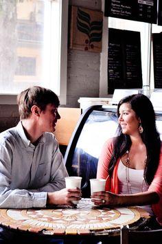 Jensen Rae Photography | Coffee Shop Engagement