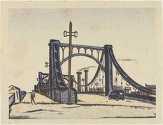 Kiyosu Bridge (#80), 2/1/1930, by Fukazawa Sakuichi