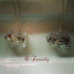 Resin doggie shaped necklaces