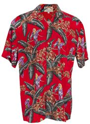 Jungle Bird Magnum PI Mens Hawaiian Aloha Shirt in Red, Mens Hawaiian Shirts Clothing, PF-JungleBird-Red Pi Shirt, Aloha Shirt, Hawaiian Costume, Mens Clothing Trends, Tropical Outfit, Magnum Pi, Mens Hawaiian Shirts, Hawaiian Print, Bird