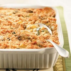 Squash Casserole 5 lbs fresh squash 1 large yellow onion chopped 1 can cream of chicken soup 1 can cream of celery soup 1 small sour cream (or about a cup) 2 eggs 1 bag pepperidge farm herb flavor stuffing 1 stick of butter  salt & pepper