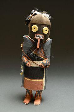 He-e-e Kachina Doll by Kevin Honyouti (Hopi)