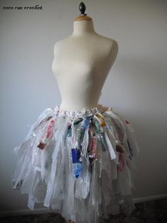 Recycled Plastic Bag Tutu. $225.00, via Etsy.