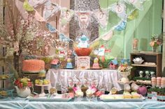 Vintage Shabby Chic Tea Party Party Ideas   Photo 3 of 29   Catch My Party