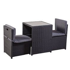 balkonm bel set soroni 5tlg grau bpc living jetzt im online shop von ab 199 99. Black Bedroom Furniture Sets. Home Design Ideas