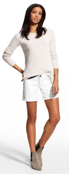White denim shorts for summer #DL1961 Karlie Short