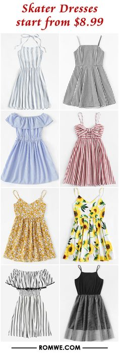 Find the best styles and deals at ROMWE right now! Really Cute Outfits, Cute Summer Outfits, Cute Casual Outfits, Pretty Outfits, Pretty Dresses, Stylish Outfits, Beautiful Outfits, Girls Fashion Clothes, Teen Fashion Outfits