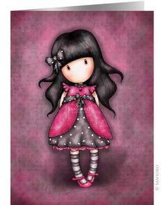 Gorjuss - The official Gorjuss girls online shop from Santoro London. Buy Gorjuss notebooks, greeting card sets and Journals. Illustration Mignonne, Cute Illustration, Santoro London, Art Mignon, 3d Cards, Little Doll, Illustrations, Cute Art, Paper Dolls