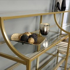 Unique Home Accessories, Pet Accessories, Bridal Accessories, Narrow Console Table, Glass Shelves, Open Shelves, Better Homes And Gardens, Messing, Cool Things To Buy