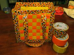 How cute is this trick or treat bag, crafted from... yes, duct tape! See how to make it at CraftyJada.