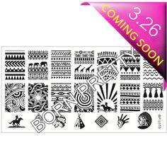 $4.99 Ancient Tribal Pattern Nail Art Stamp Template Image Plate BORN PRETTY BP-L010 12.5 x 6.5cm - BornPrettyStore.com
