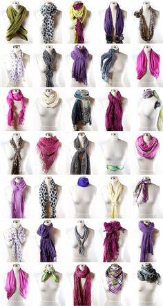 Ways to tie a scarf