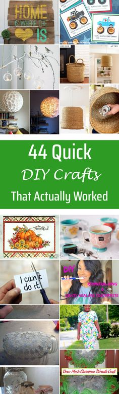 44 Quick DIY Crafts That Actually Worked