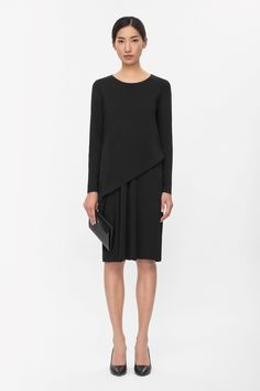 Asymmetric layered dress