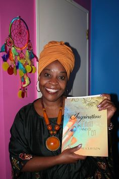 Here is Getrude Matshe, entrepreneur with my book 'Inspirations in Paint and Pen'...available now from www.amazon.com