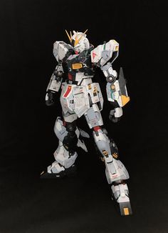 GUNDAM GUY: MG 1/100 Nu Gundam Ver Ka + HWS Parts - Customized Build