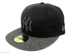 New Era Men's MLB 59FIFTY New York Yankees Mel-Suede Fitted Cap - Black & Grey #NewEra #BaseballCap #NewYorkYankees