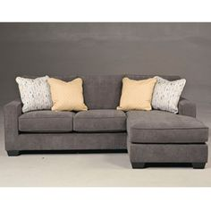 -Contemporary Styling -Reversible Seat Cushions-Stylish Set Back Track Arms -Corners are glued, blocked and stapled-High Quality Foam Cushions-Exciting Design-Dark Finish Tapered Block Feet-Reversible Chaise Sofa