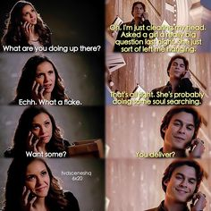 "#TVD 6x20 ""I'd Leave My Happy Home For You"" - Elena and Damon"