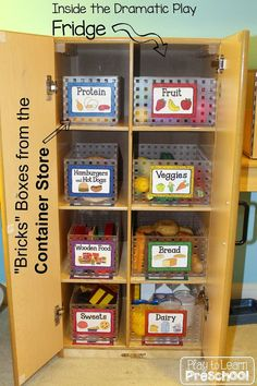 Organizing play food