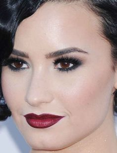 Close-up of Demi Lovato at the 2015 American Music Awards.