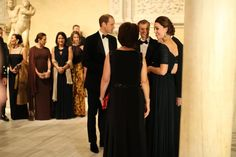 Prince William, the Duke of Cambridge and Catherine, the Duchess of Cambridge, attend the St. Andrews 600th Anniversary Dinner at The Metropolitan Museum of Art on Tuesday, Dec. 9, 2014.
